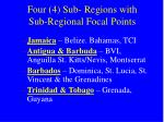 four 4 sub regions with sub regional focal points