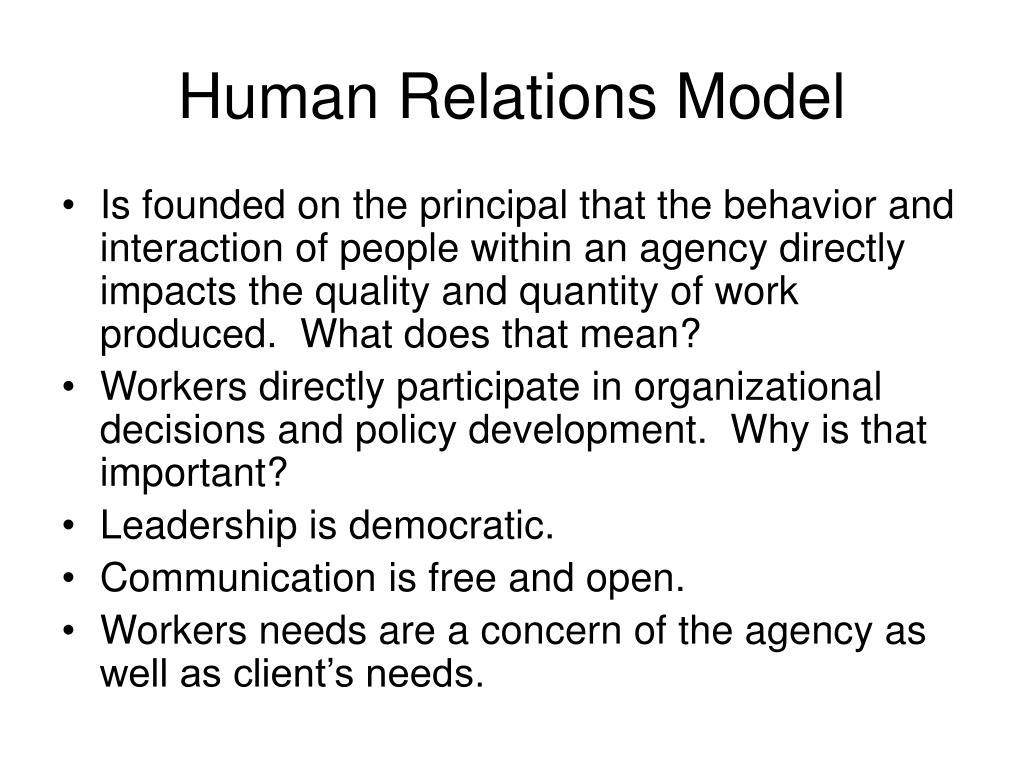 Human Relations Model