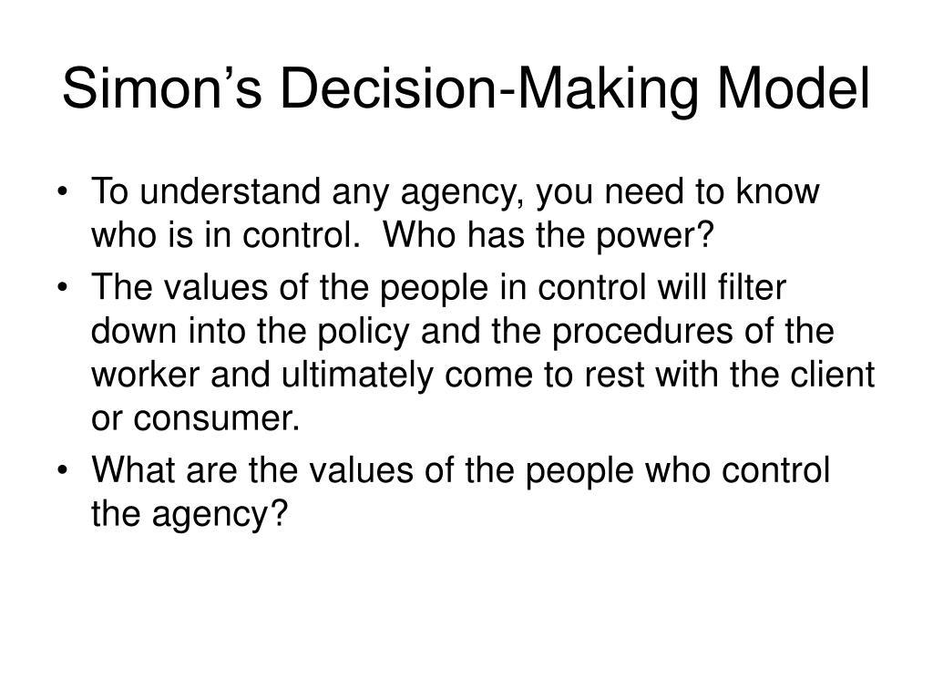 Simon's Decision-Making Model