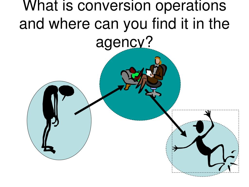What is conversion operations and where can you find it in the agency?