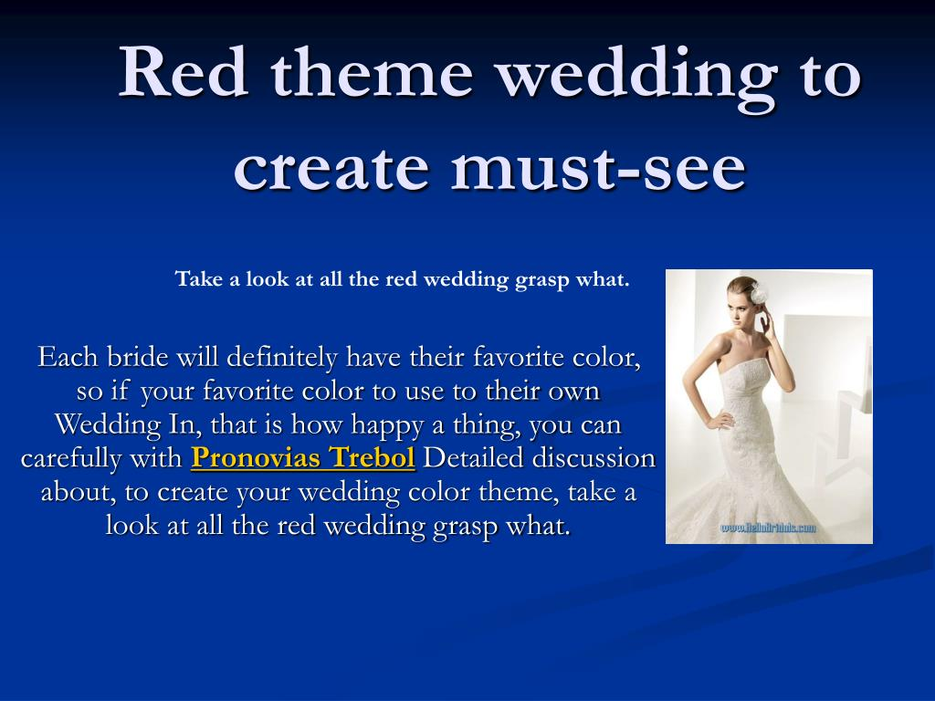 red theme wedding to create must see l.