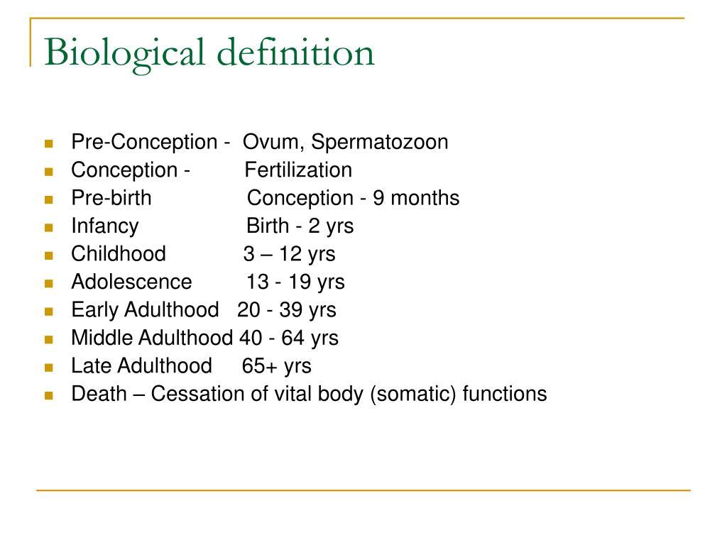 Biological definition
