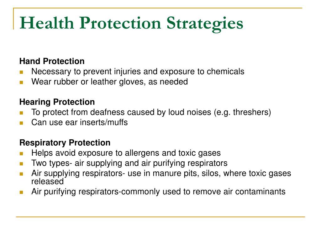 Health Protection Strategies