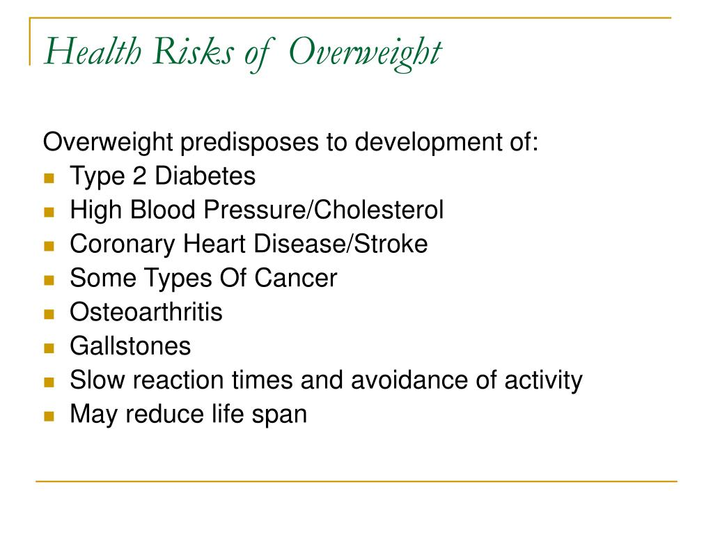 Health Risks of Overweight