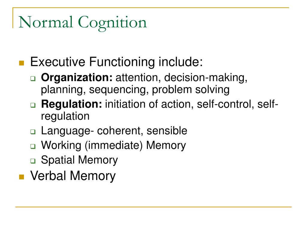 Normal Cognition