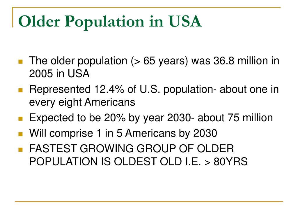 Older Population in USA