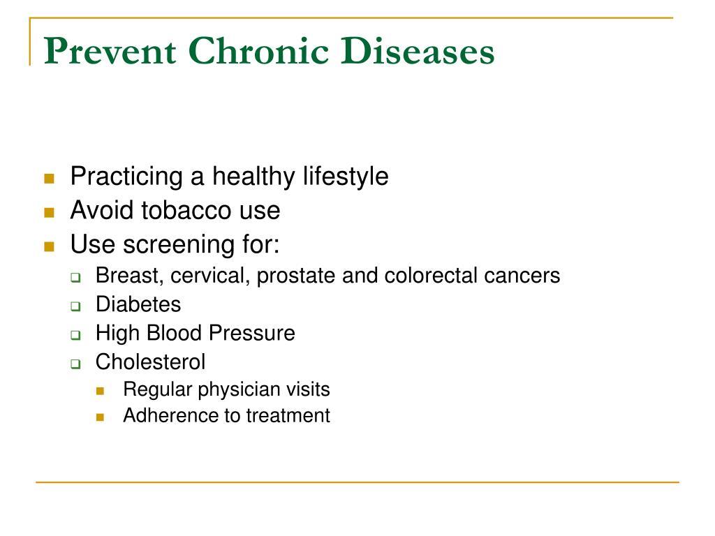 Prevent Chronic Diseases