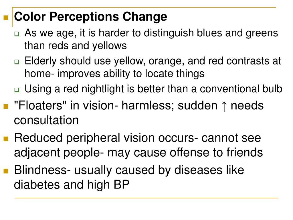Color Perceptions Change