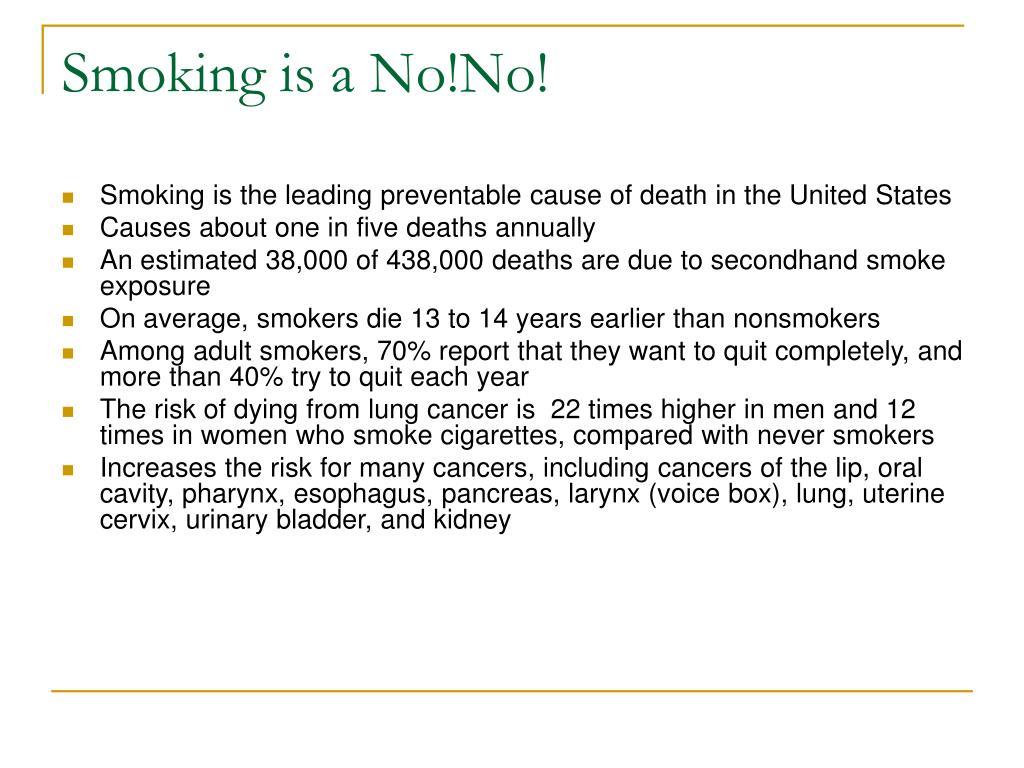 Smoking is a No!No!