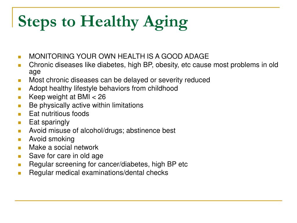 Steps to Healthy Aging