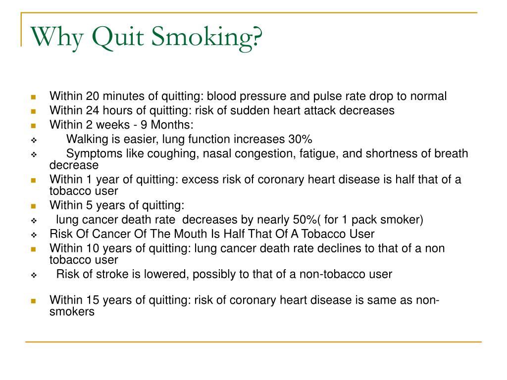 Why Quit Smoking?