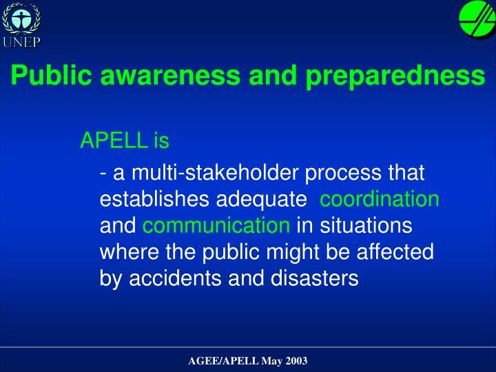 Public awareness and preparedness