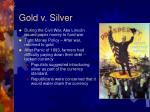 gold v silver
