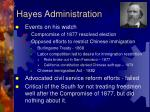 hayes administration