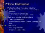 political hollowness