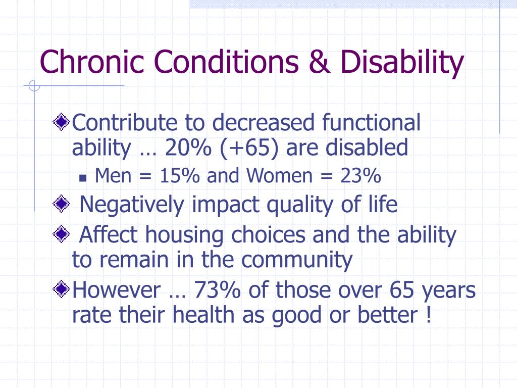 Chronic Conditions & Disability