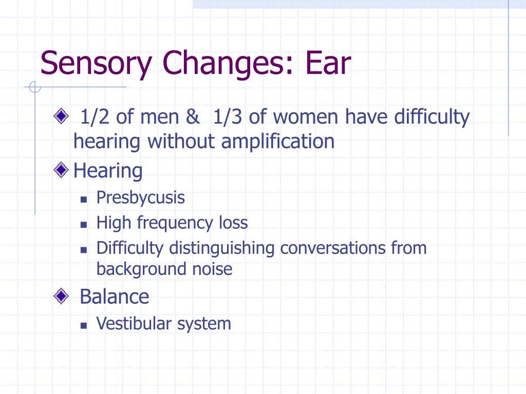 Sensory Changes: Ear