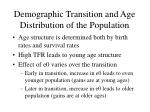 demographic transition and age distribution of the population