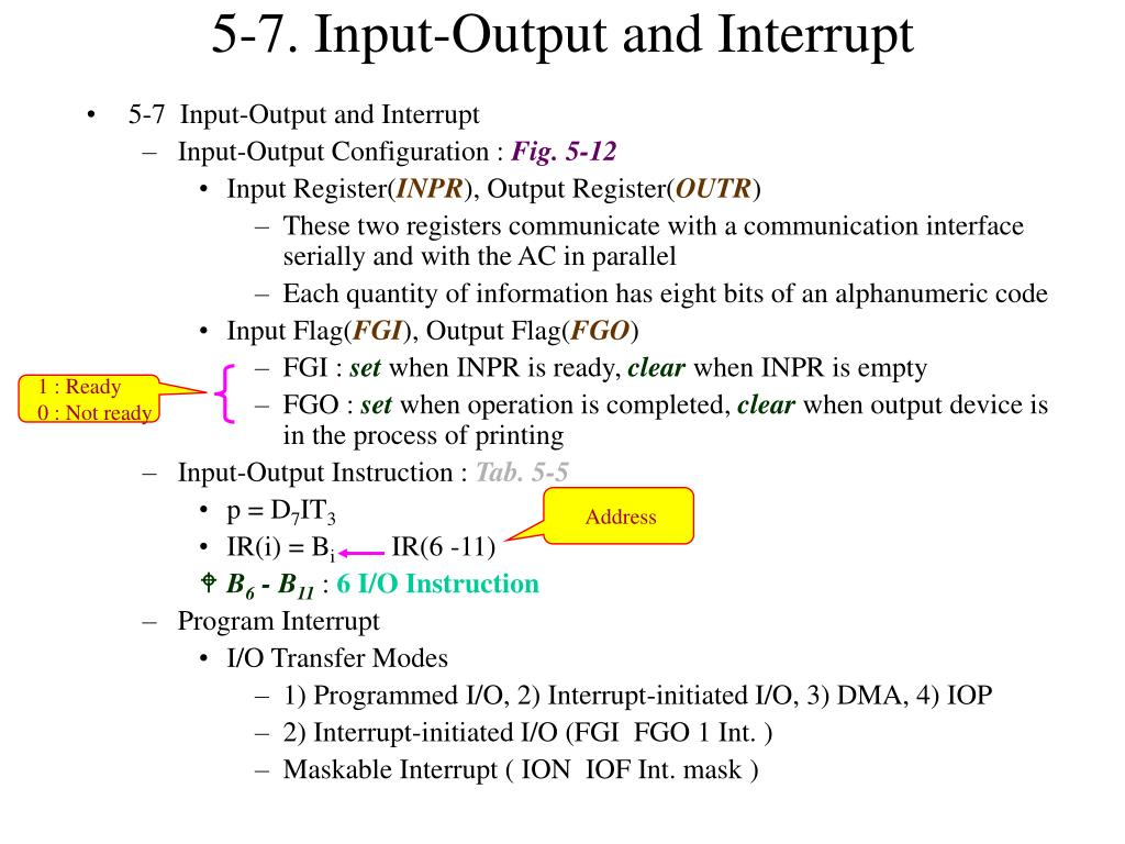 5-7. Input-Output and Interrupt