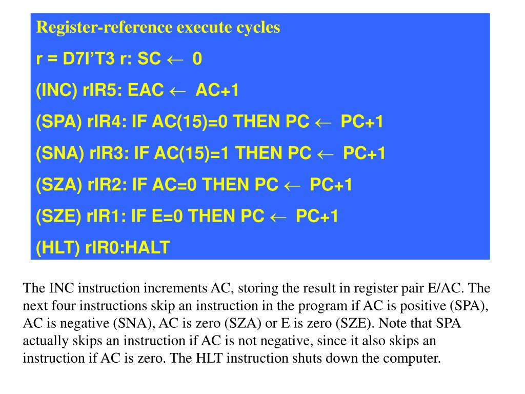 Register-reference execute cycles