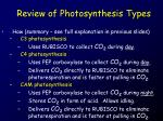 review of photosynthesis types11