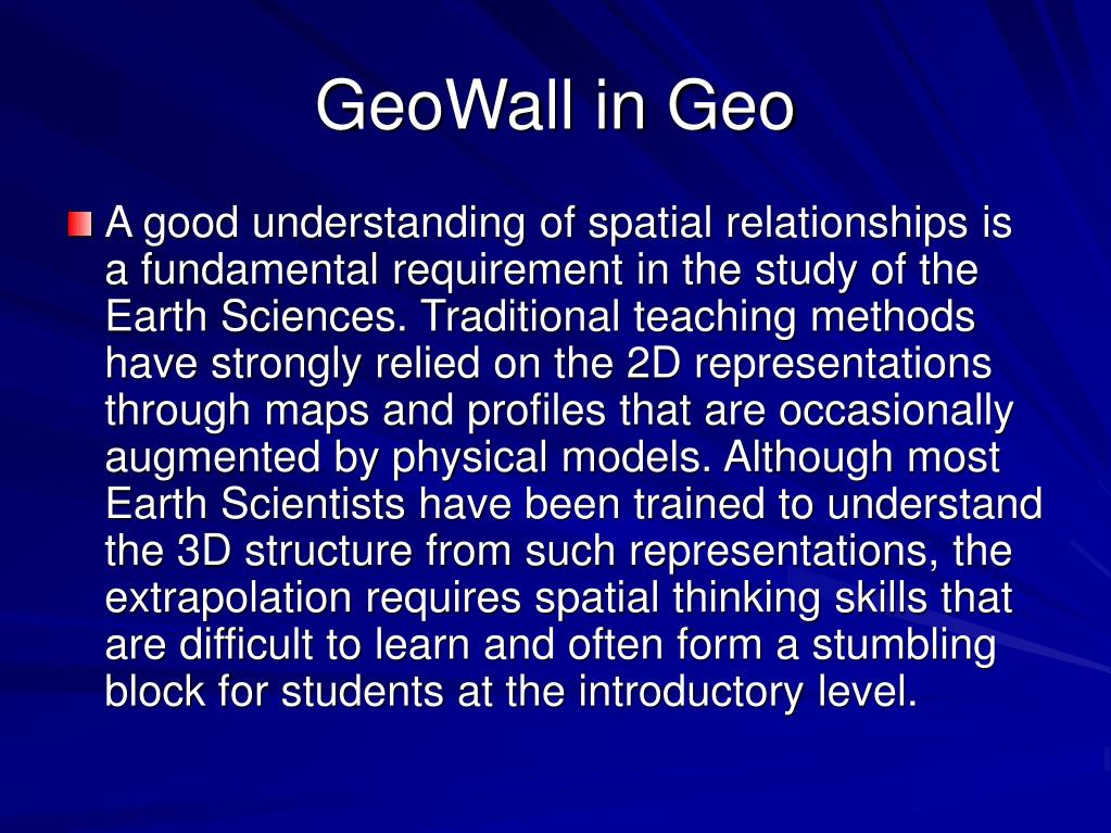 GeoWall in Geo