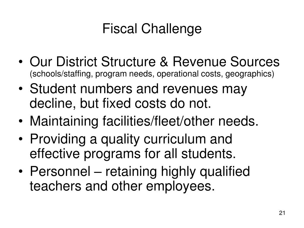 Fiscal Challenge