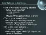error patterns to the rescue