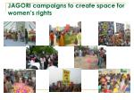 jagori campaigns to create space for women s rights