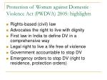 protection of women against domestic violence act pwdva 2005 highlights