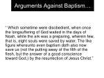 arguments against baptism12