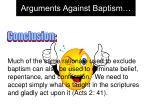 arguments against baptism21