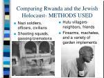 comparing rwanda and the jewish holocaust methods used