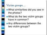 victim groups