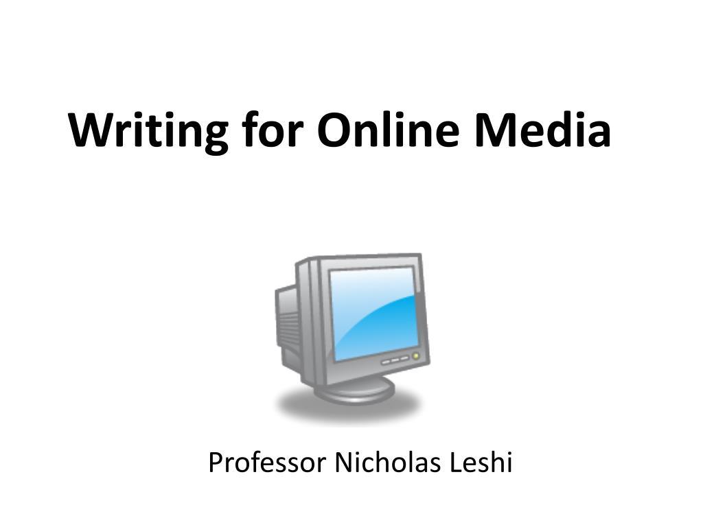 Writing for Online Media