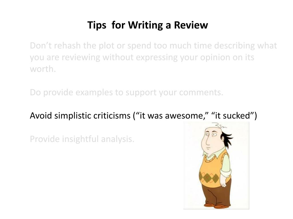 Tips  for Writing a Review