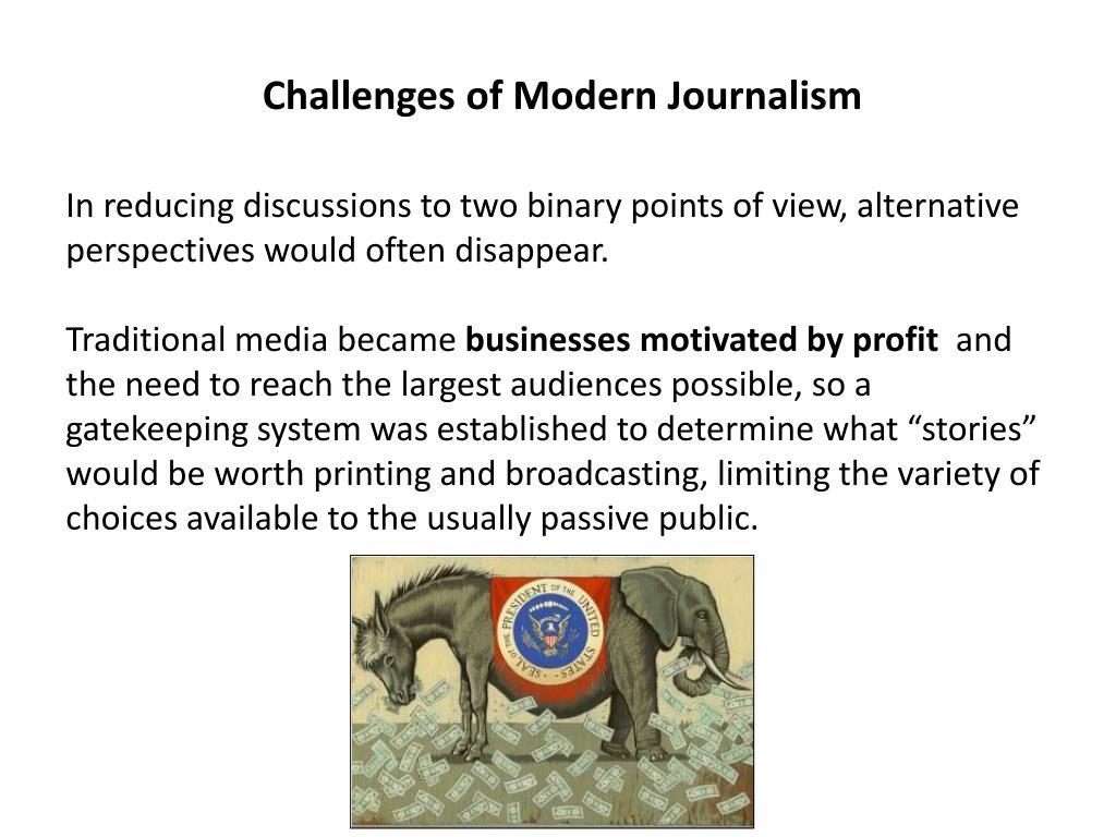 Challenges of Modern Journalism