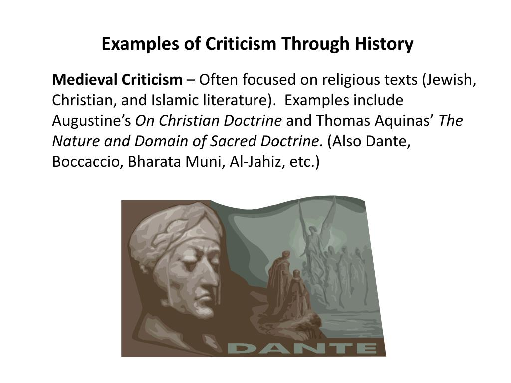 Examples of Criticism Through History