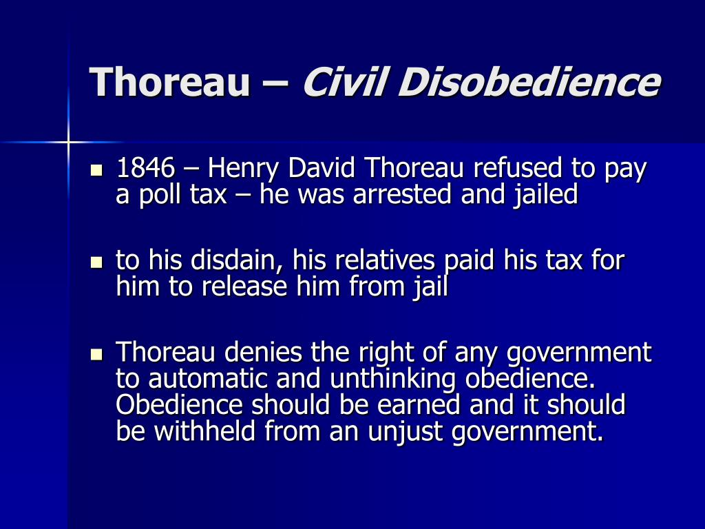 thoreau civil disobedience l.
