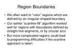 region boundaries