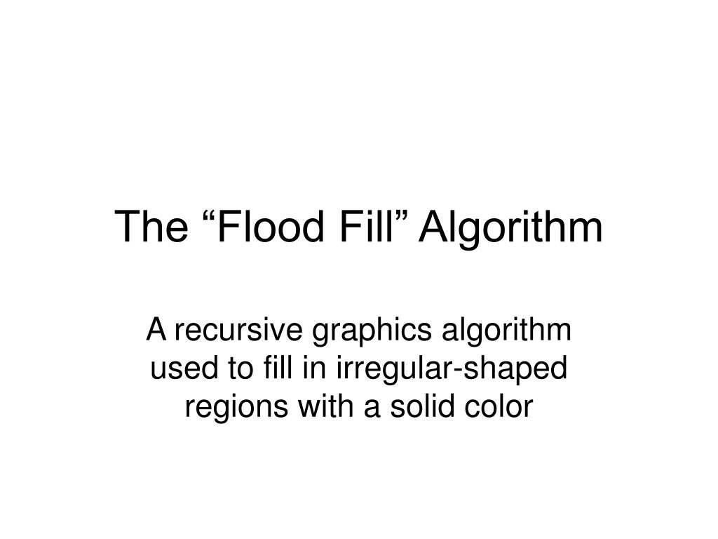 the flood fill algorithm l.