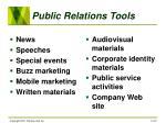 public relations tools