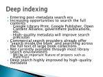 deep indexing