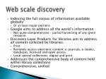web scale discovery