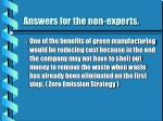 answers for the non experts
