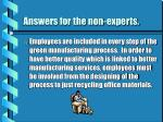 answers for the non experts25