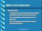 what is zero emission