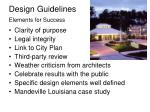 design guidelines elements for success