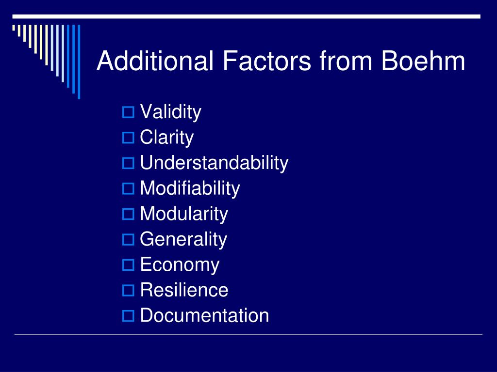 Additional Factors from Boehm
