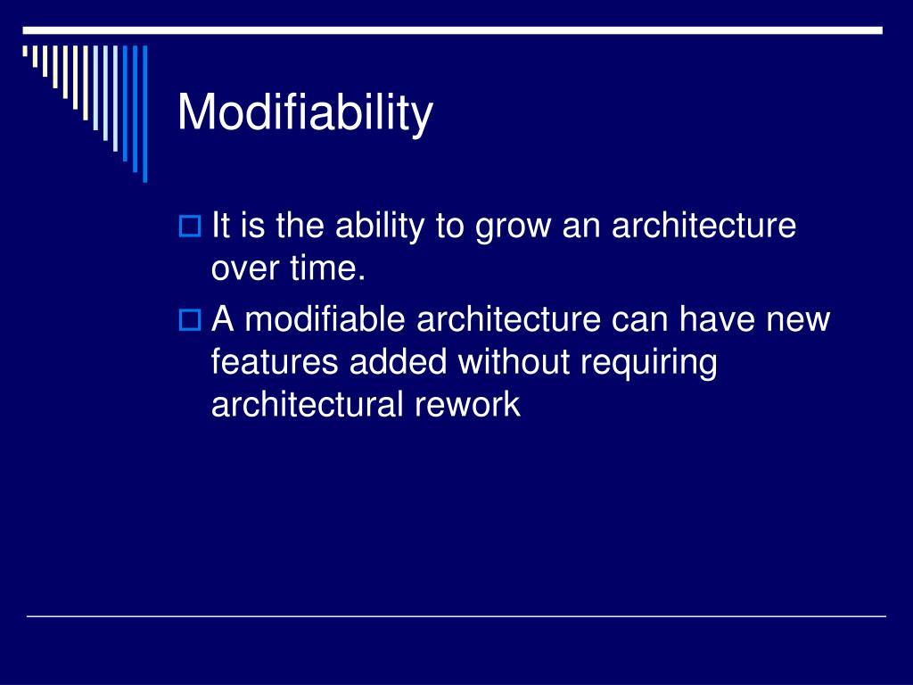 Modifiability